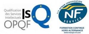Logo conjoint OPQF AFNOR  150227